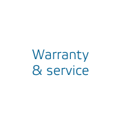 Warranty & service - Performed reliably and flexibly by service personnel who are highly familiar with the technology